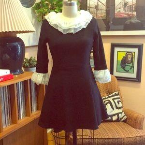 Vintage Wednesday Adams Style Black Mini Dress